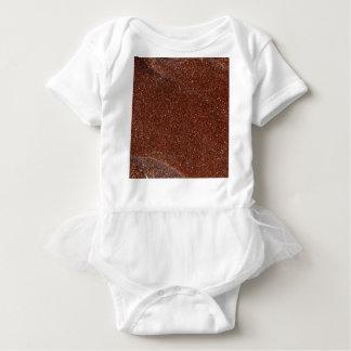 Macro photo of Goldstone glass Baby Bodysuit