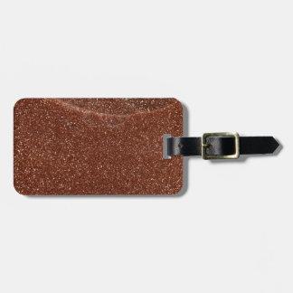Macro photo of Goldstone glass Luggage Tag