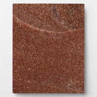 Macro photo of Goldstone glass Plaque