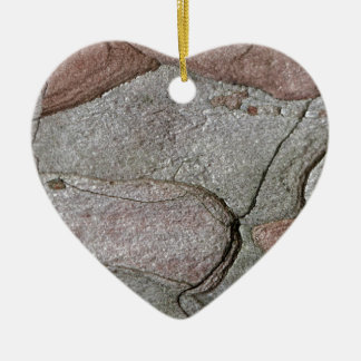 Macro photo of pine bark ceramic heart ornament