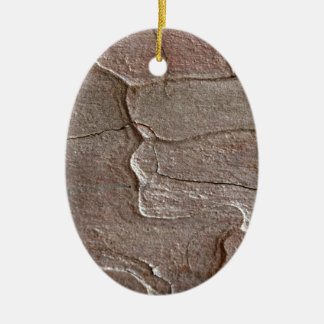 Macro photo of pine bark ceramic oval ornament
