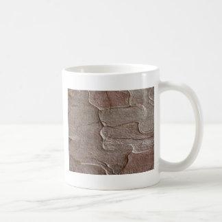 Macro photo of pine bark coffee mug