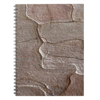 Macro photo of pine bark notebook