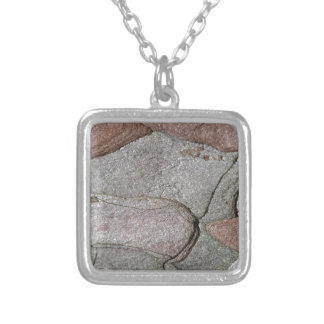 Macro photo of pine bark silver plated necklace