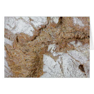 Macro photo of the surface of brown bread card