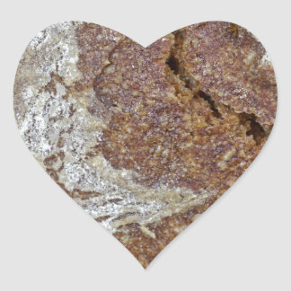 Macro photo of the surface of brown bread from Ger Heart Sticker