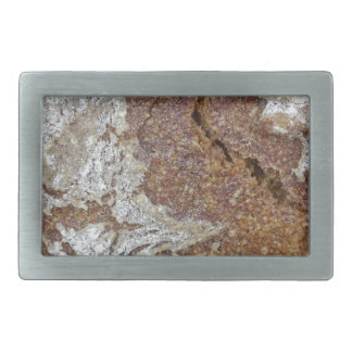 Macro photo of the surface of brown bread from Ger Rectangular Belt Buckle