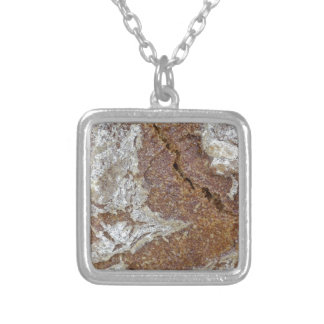 Macro photo of the surface of brown bread from Ger Silver Plated Necklace