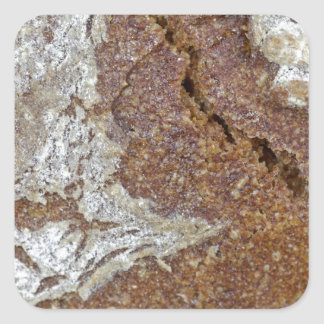 Macro photo of the surface of brown bread from Ger Square Sticker