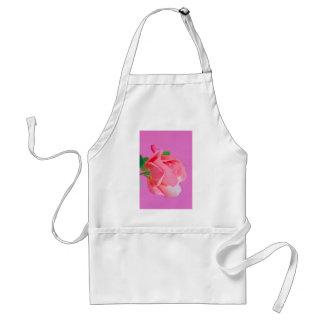 Macro pink rose flower standard apron