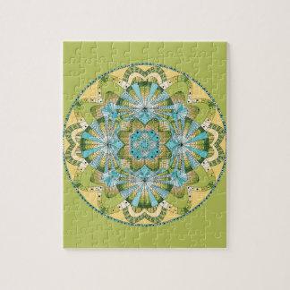 Macro shot of callas jigsaw puzzle