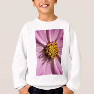 Macro shot of fresh pink flower sweatshirt