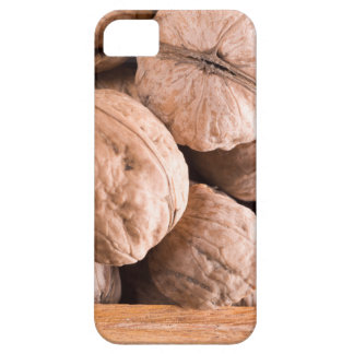Macro view of a group of old walnuts iPhone 5 cases