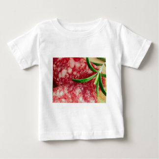 Macro view of the sausage and bacon baby T-Shirt
