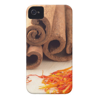 Macro view of the sticks of cinnamon and saffron iPhone 4 Case-Mate case