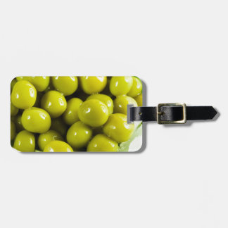 Macro view on a salad of green vegetables luggage tag
