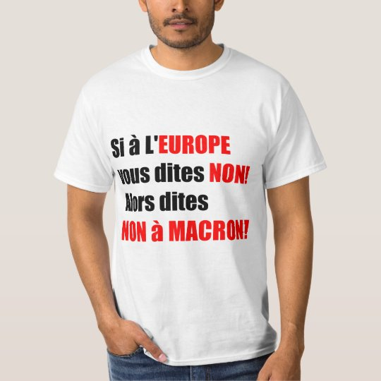 Macron = Europe = Mondialisation - White Men Tee