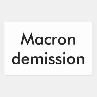 Macron resignation sticker