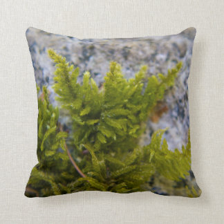 MacroPillow: Moss Rock & Hat Mountain Throw Pillow