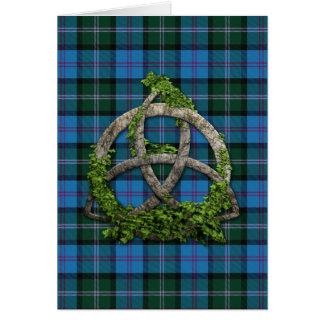 MacThomas Tartan And Celtic Trinity Knot Card