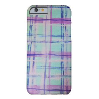 Mad About Plaid Aqua/Pink Barely There iPhone 6 Case