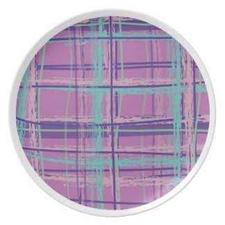 Mad About Plaid Pink/Aqua Plate