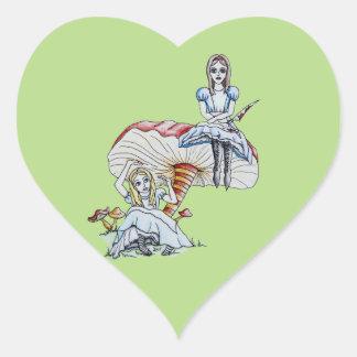 Mad Alice Heart Sticker