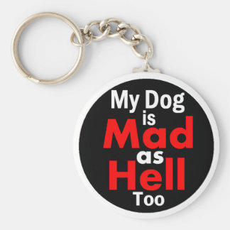 Mad as Hell Basic Round Button Keychain