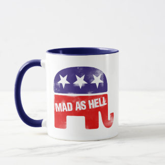 Mad as Hell Conservative Republican Mug