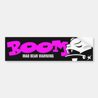 Mad Bear Bumper Sticker