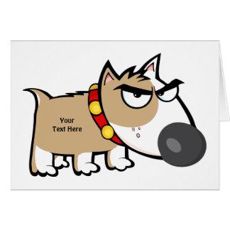 Mad Brown Dog (customizable) Greeting Card
