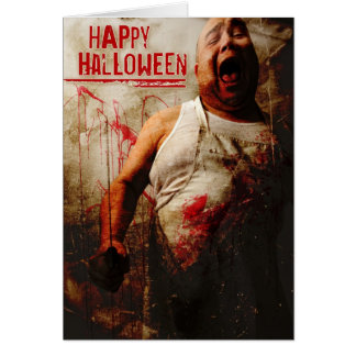 mad butcher halloween card