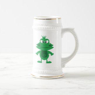 Mad Cartoon Frog Beer Stein