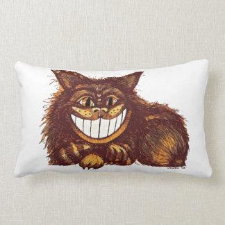 Mad Cat by Aleta Lumbar Pillow