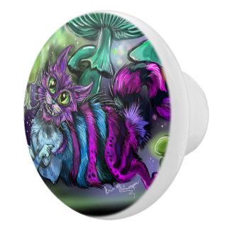 Mad Cat Ceramic Knob