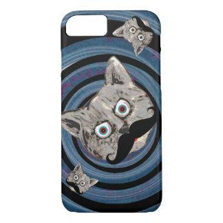 mad cat in a spiral iPhone 7 case