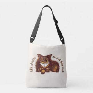 Mad Cat Rap by Aleta Crossbody Bag