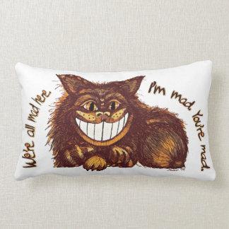 Mad Cat Rap by Aleta Lumbar Pillow