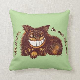 Mad Cat Rap by Aleta Throw Pillow