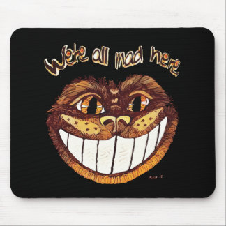 Mad Cat Smile by Aleta Mouse Pad