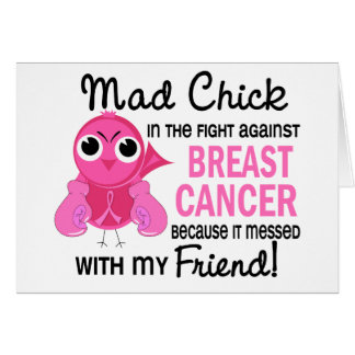 Mad Chick 2 Friend Breast Cancer Cards
