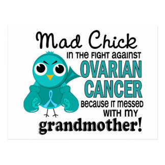 Mad Chick 2 Grandmother Ovarian Cancer Postcard