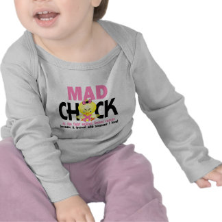 Mad Chick In The Fight Breast Cancer Tee Shirts