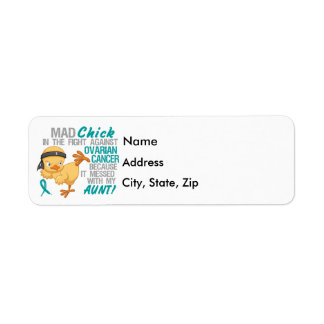 Mad Chick Messed With My Aunt 3 Ovarian Cancer Return Address Label