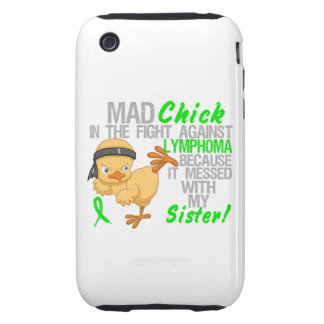 Mad Chick Messed With My Sister 3 Lymphoma iPhone 3 Tough Covers
