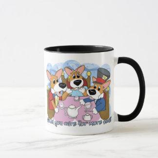 Mad Corgi Tea Party Mug