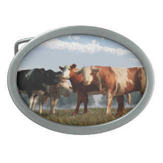 Mad Cows Oval Belt Buckles