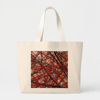 MAD DASH (an abstract art design) ~ Jumbo Tote Bag