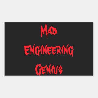 Mad Engineering Genius Geeky Geek Nerd Gifts Stickers