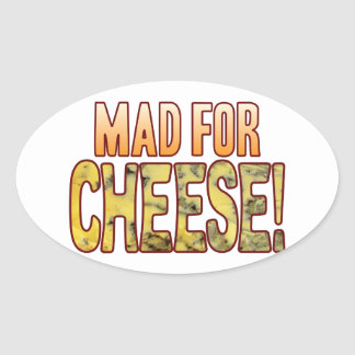 Mad For Blue Cheese Oval Sticker